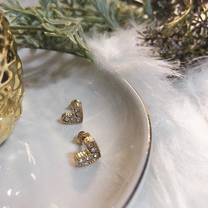 Ivana Heart-shaped Studs Earrings