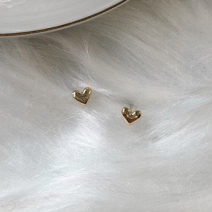 Cassia Heart Studs Earrings