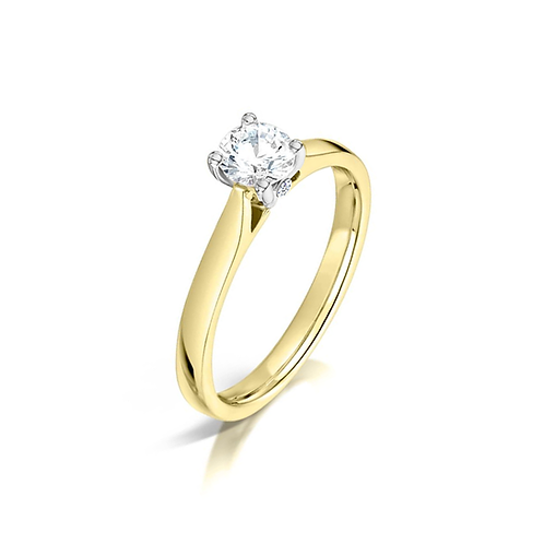 9ct Gold Diamond Solitaire Ring DR00300