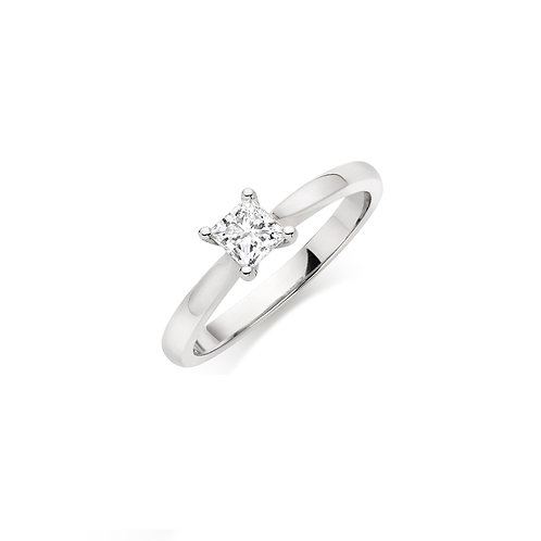 18ct White Gold Diamond Solitaire Ring DR00300