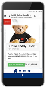 Mobiler Webshop für Ersatzteile und Zube