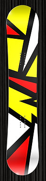 Red Yellow Snowboard 274, Colorful Snowboard