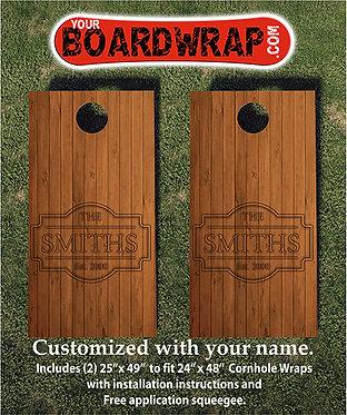 Custom Cornhole Board Wrap 502