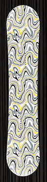 Gray Yellow Topographical Map Snow Board 078