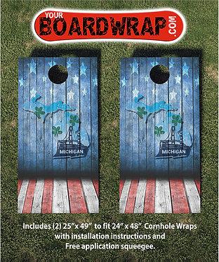 Cornhole Board Wrap 091