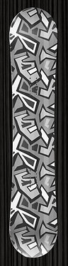 Gray Geometric Shapes Snowboard Wrap