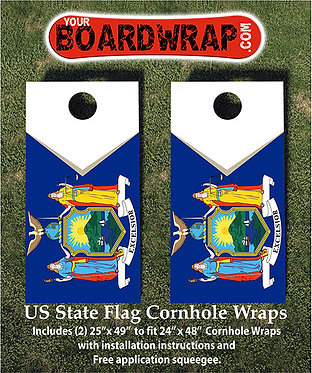 New York Flag Cornhole Wrap