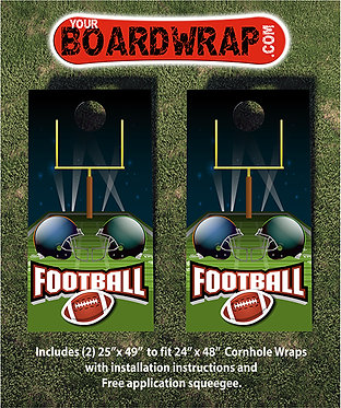 Football Cornhole Wrap