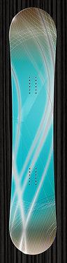 Teal Gray Snowboard Design