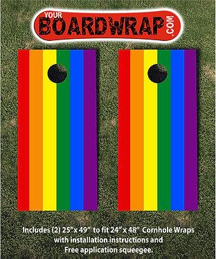 Rainbow Cornhole   Lawn Games   www.YourBoardWrap.com