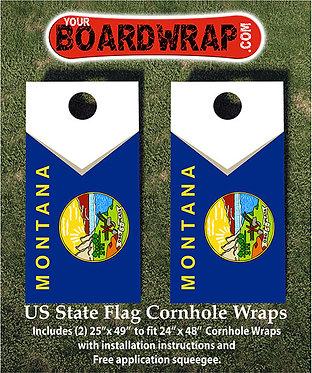 Montana Flag Cornhole Wrap