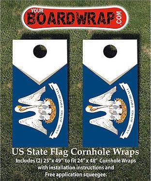 Louisiana Flag Cornhole Wrap