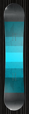 Turquoise Teal Snowboard Design