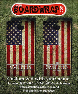 Custom Cornhole Board Wrap 503
