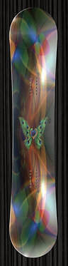 Butterfly Peacock Feather Snowboard Wrap 281