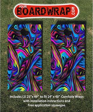 Cornhole Board Wrap 097