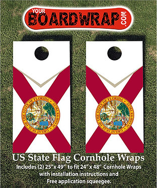 Florida Flag Cornhole Wrap