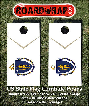 Massachusetts Flag Cornhole Wrap