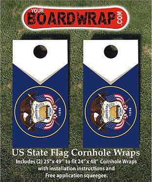 Utah Flag Cornhole Wrap