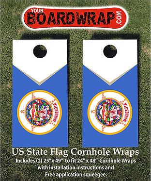 Minnesota Flag Cornhole Wrap