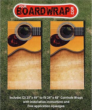 Guitar Picture Cornhole Wraps