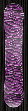 Purple Zebra Snowboard by yourboardwrap.com