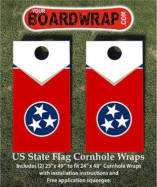 Tennessee Flag Cornhole Wrap