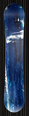 Blue and Black Snowboard Wrap Design