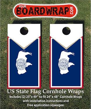 Wyoming Flag Cornhole Wrap