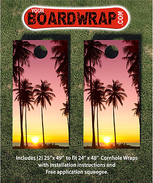 Cornhole Board Wrap 089