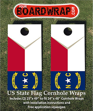 North Carolina Flag Cornhole Wrap