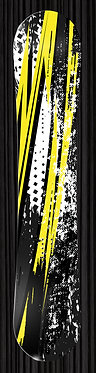 Yellow Black Snowboard 341