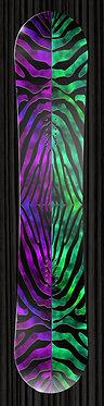 Purple Green Zebra Print Design
