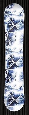 blue crystal snowboard wrap
