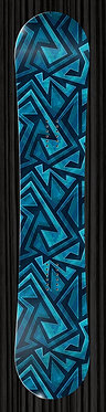 Blue Turquois Snowboard Wrap Design