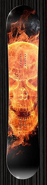 Fire Skull Flames Design Board Wrap 237