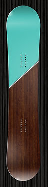 Wood and Teal Snowboard 297