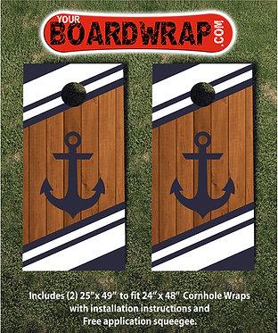 Navy Marine Anchor Cornhole Wrap | www.Yourboardwrap.com