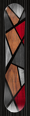 Gray Wood Snowboard Design