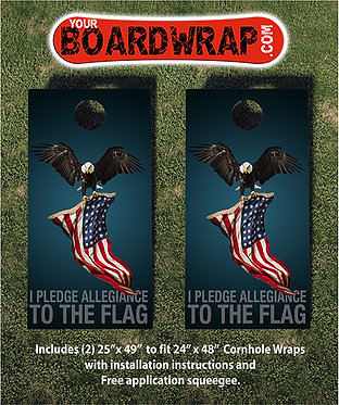 Cornhole Board Wrap 407