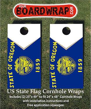 Oregon Flag Cornhole Wrap