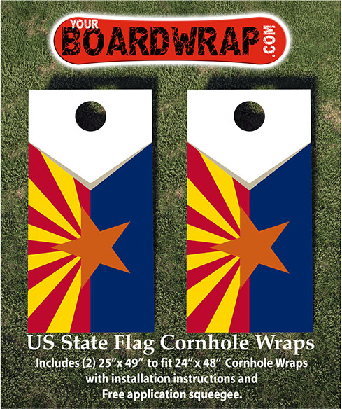 Arizona Flag Cornhole Wrap