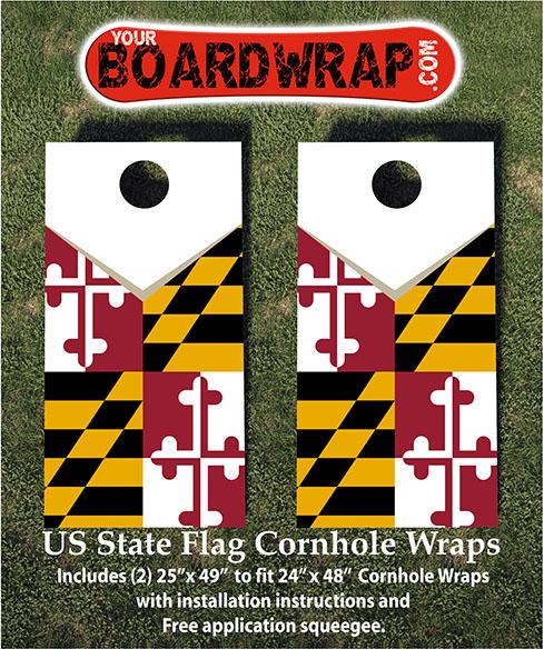 Maryland State Flag Cornhole Wrap