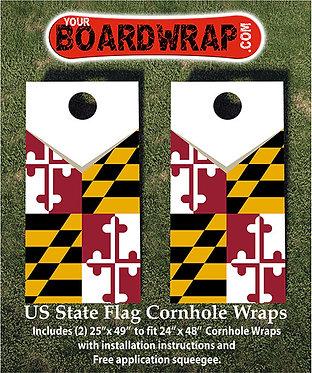 Maryland Flag Cornhole Wrap