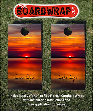 Lake Life Cornhole Wraps