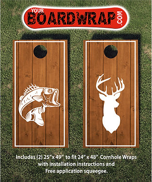Cornhole Board Wrap 507