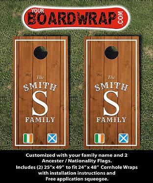 Custom Cornhole Board Wrap 506