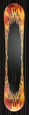 Flame Border Design yourboardwrap.com