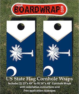 South Carolina Flag Cornhole Wrap