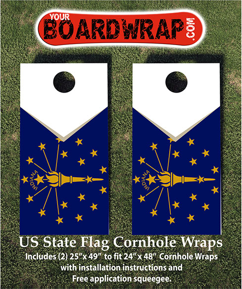 Indiana State Flag Cornhole Wraps